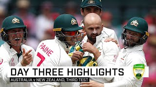 Aussie lead swells after Lyon helps roll Black Caps | Third Domain Test v New Zealand