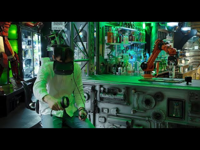 """""""R:O:B:"""" – a Virtual Reality-controlled 'robotically optimised bartender'"""