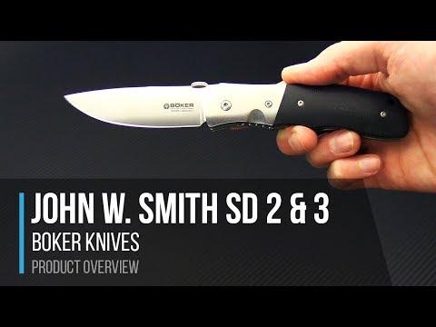 Boker Knives SD 2 & SD 3 John W  Smith Designed Folders Overview
