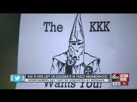 KKK flyers left on driveways in Pasco neighborhood