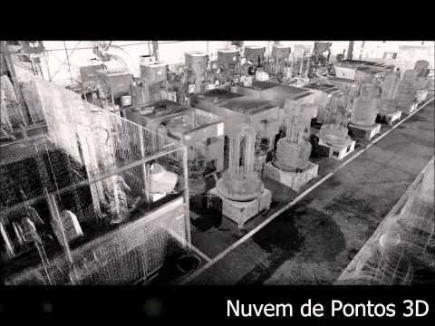 As Built Industrial com Laser Scanning 3D