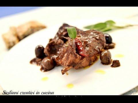 Siciliani Creativi - Coniglio Al Vino Rosso - Rabbit In Red Wine Sauce