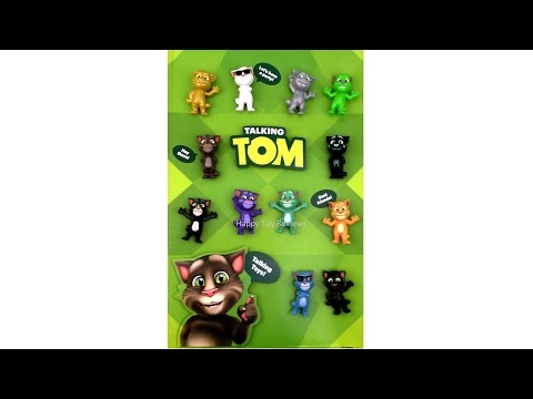 2016 Mcdonald S Talking Tom Happy Meal Toys Restaurant Store Display