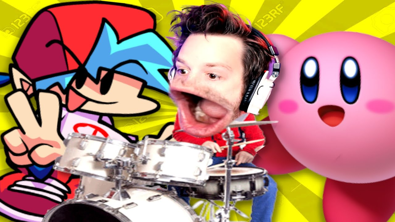 playing drums with video game songs