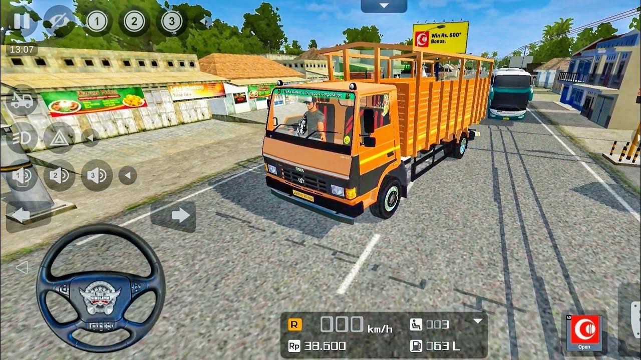 Bus Simulator Indonesia - Tata 1109 Truck Driving - Bussid Truck Mod Android Gameplay