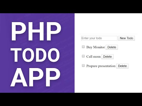 Todo App With PHP