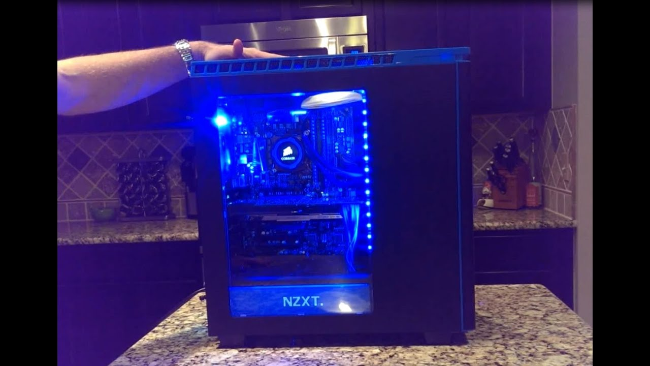 Nzxt H440 Blue Case Review Youtube