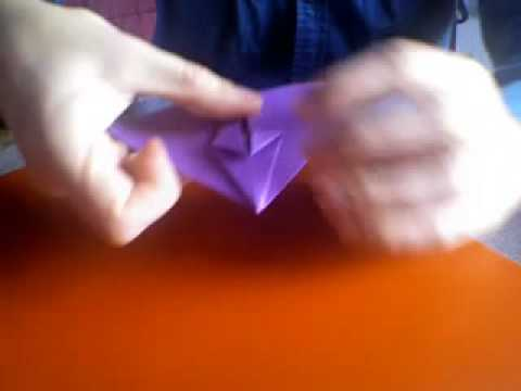 how to make a paper origami flapping bat