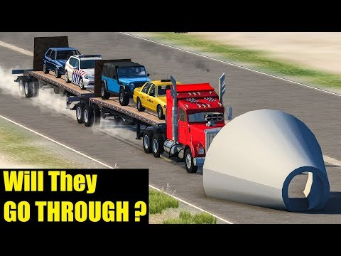 WILL THEY FIT THROUGH? - BeamNG.Drive Crashes (funnel car accidents)