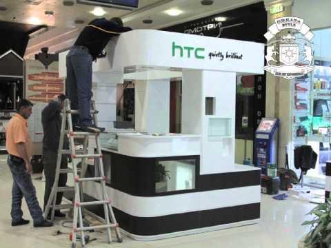 Съемка сборки киоска HTC в Ереван плаза