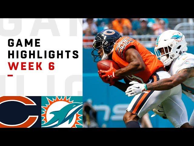 Bears vs. Dolphins Week 6 Highlights | NFL 2018