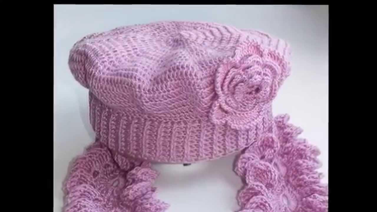 Женские шапки крючком со схемами фото 442