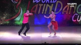 John Tsimbidis & Sophia, Greece, Salsa Couple On2 PRO, SEMIFinal Round, WLDC 2015