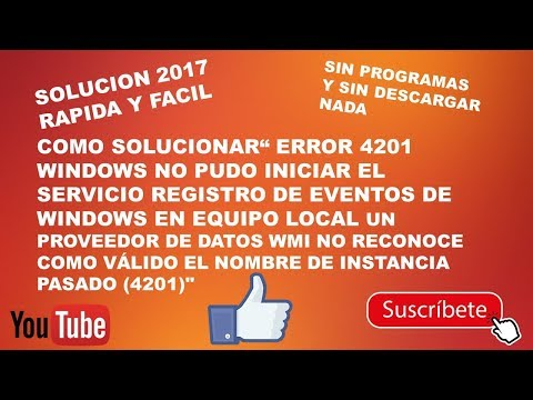 "HOW TO SOLVE ERROR 4201 ""WINDOWS CAN NOT START SERVICE EVENT REGISTRY"" 2017"