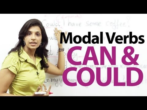 Modal verbs  Can and Could  English Grammar lesson