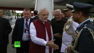 Премьер Индии Нарендра Моди прибыл в Уфу на саммиты БРИКС и ШОС