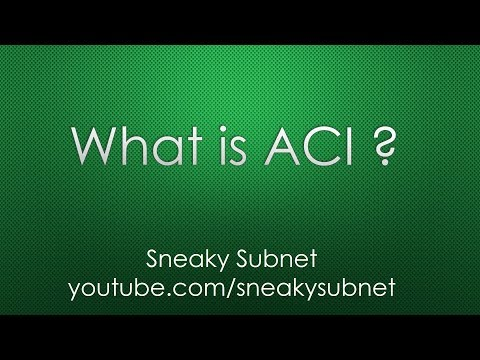 Cisco ACI Overview