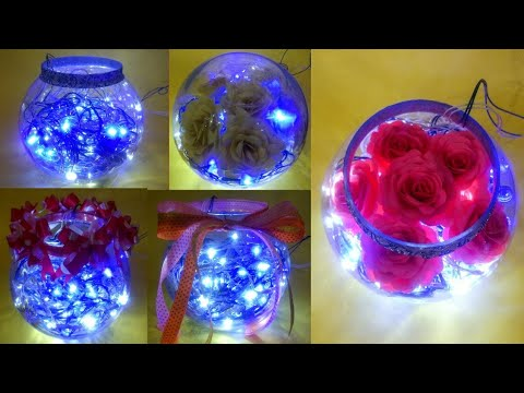 DIY Fish Bowl With Fairy Lights | 5 Ways To Decorate A Fish Bowl For Room Decor