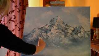 Making mountains more realistic.Part 2,oilpainting