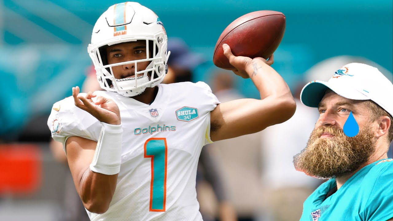 Why is Tua Tagovailoa starting? Dolphins bench Ryan Fitzpatrick for ...