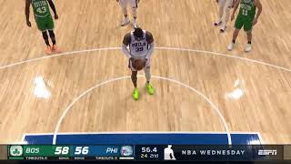 Dwight Howard shoots free throws from the top of the key