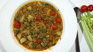Ոսպով Թանձր Ապուր - Lentil Stew Recipe - Heghineh Cooking Show in Armenian