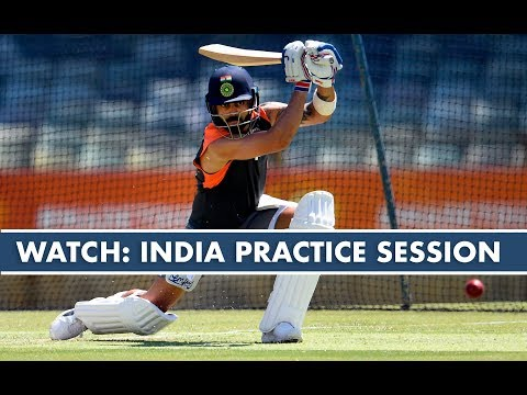 WATCH - Ashwin, Jadeja and Rohit train ahead of Boxing Day Test