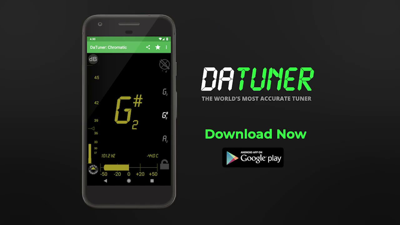 Guitar Tuner, Bass, Violin, Banjo & more | DaTuner - YouTube