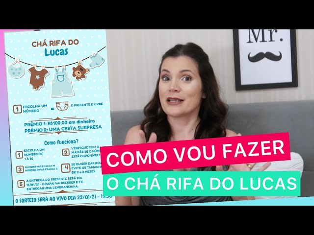 COMO VOU FAZER O CHÁ RIFA DO LUCAS - CHÁ À DISTÂNCIA- CONVITE + DICAS DE COMO FAZER