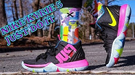 NIKE KYRIE 5 JUST DO IT REVIEW   DOPE ON FEET!! - Duration  6 minutes 3a9ea0c8d