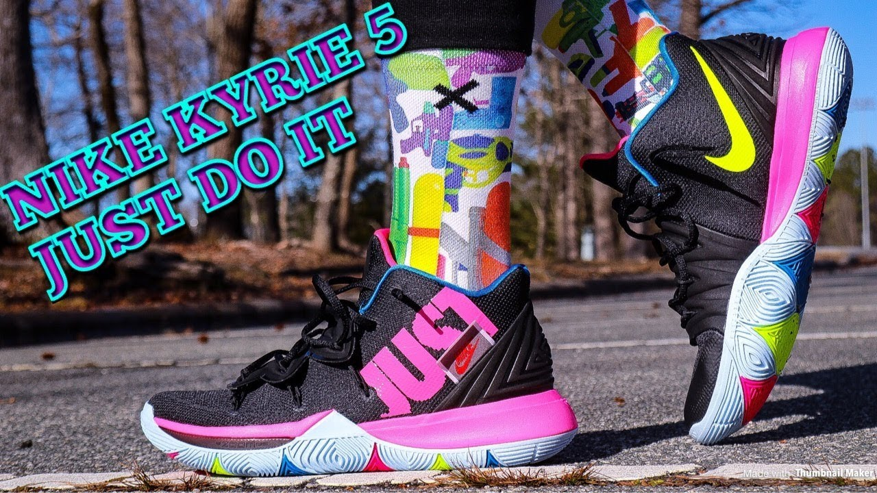 b49b2238e84 NIKE KYRIE 5 JUST DO IT REVIEW   DOPE ON FEET!! - YouTube