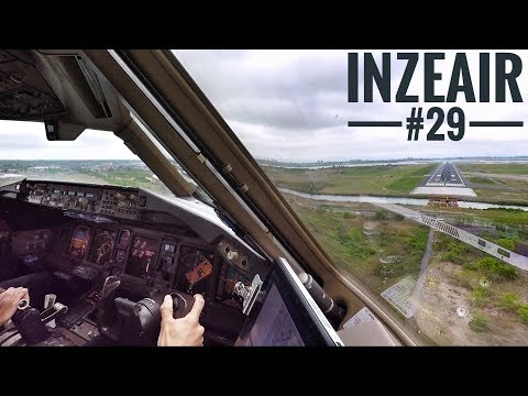 IZA#29 - B777 Landing New York Cockpitview