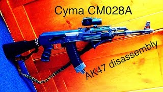 how to disassemble cyma cm028 airsoft ak47 rifle