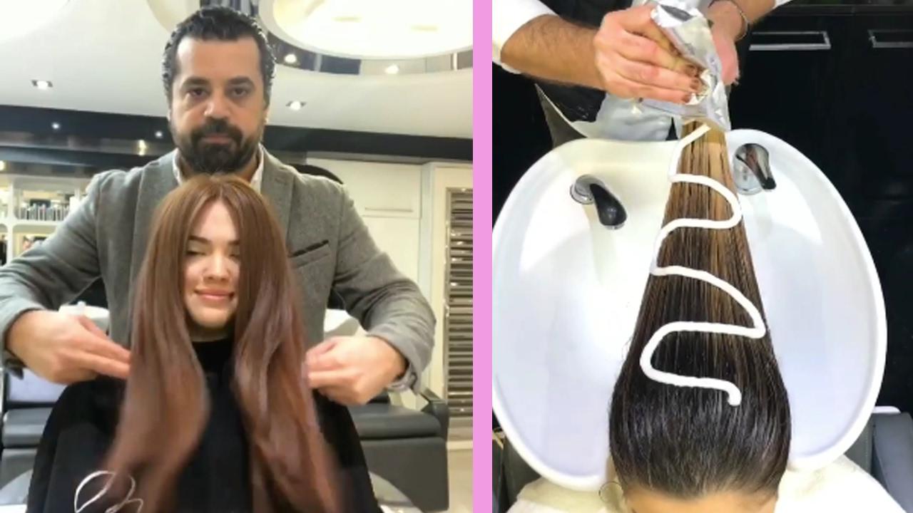 Hair color transformation by mounir 6 new hair for Mounir salon prix