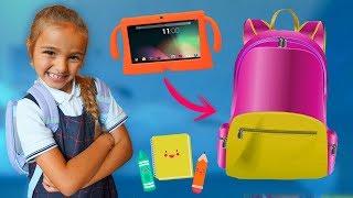 Que llevo en mi mochila Vuelta al cole de Claudia how to school Las Ratitas