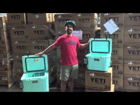 ACK Unboxing the YETI Seafoam Green LE Coolers - YouTube