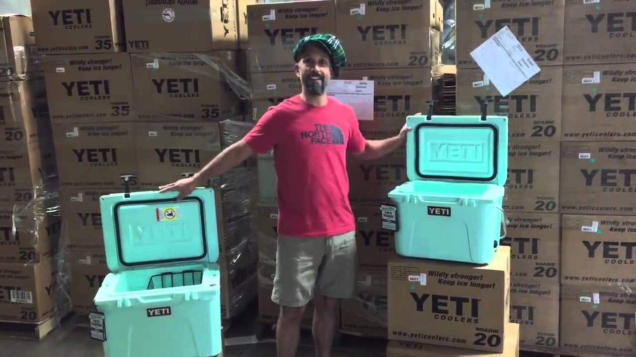 Ack Unboxing The Yeti Seafoam Green Le Coolers Youtube