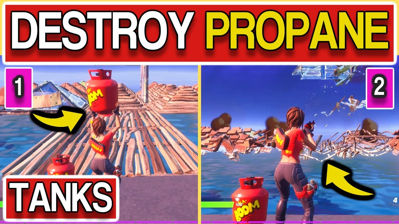 Destroy structures with Propane Tanks - Fortnite Propane ...