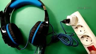 Słuchawki dla graczy KOTION EACH G9000 z mikrofonem - Rozpakowywanie - Przewodowy stereofoniczny słuchawkowy