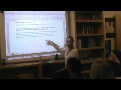Leslie Teaches Essay-Writing Workshop at The Paideia School (March 2016)