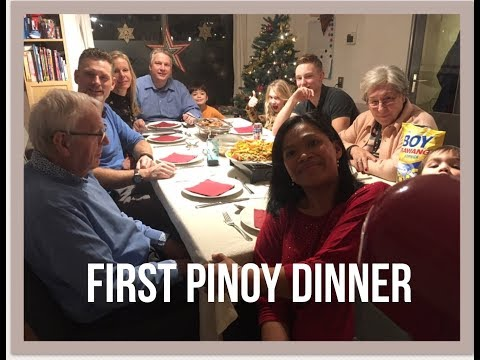 In laws trying pinoy food!