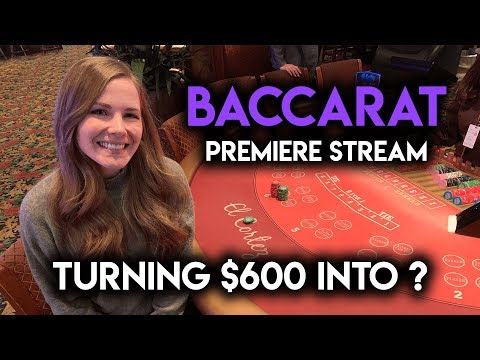 BACCARAT PREMIERE STREAM!! $100/HAND! AWESOME RUN!!