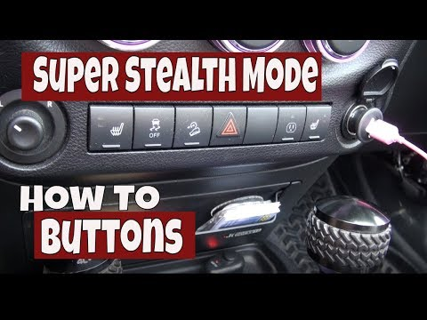 How To Use The Other Buttons In Jeep Wrangler Rubicon Super Stealth Mode
