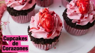CUPCAKES DE HALLOWEEN | Cupcakes de Corazones | Maratón del terror | Ale Hervi
