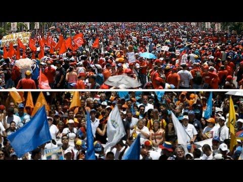 Massive Pro and Anti Government Protests in Venezuela