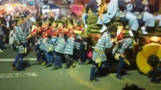 江戸優り 佐原の大祭 秋祭り のの字廻し 南横宿(仁徳天皇)の山車.