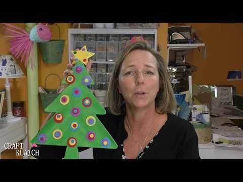 DIY Whimsical Wood Christmas Tree ~ Craft Klatch ~ Christmas Crafts
