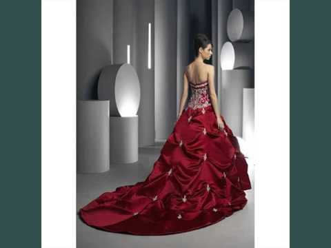 c3fa316f024 Collection Of Color Red - Red   White Wedding Dress - YouTube