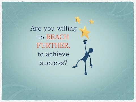 Success requires reaching further/ Motivational speaker/Ian Humphrey