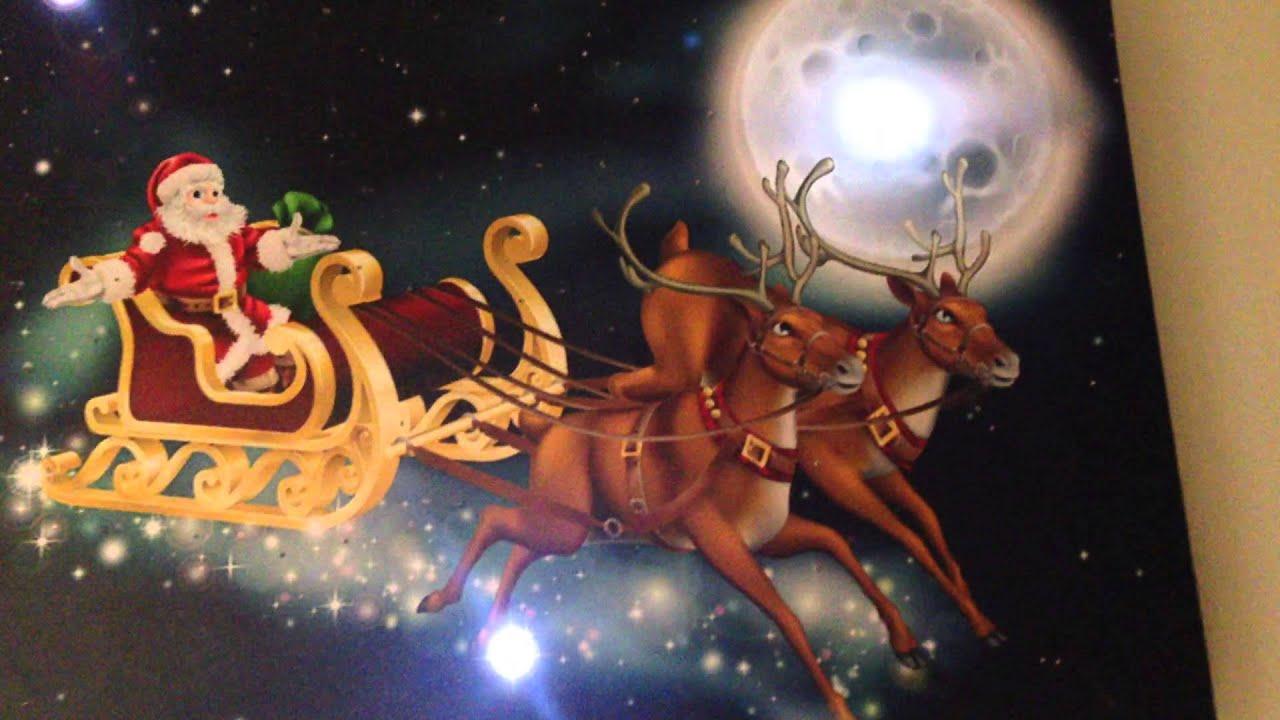 Battery Operated Fiber Optic Santa/'s Sleigh Canvas